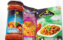 Antara produk terbaru Brunei Halal dalam pasaran tempatan.