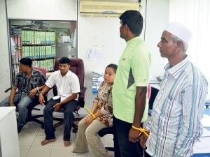 Antara warga asing yang ditahan, kelmarin.