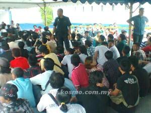 SEBAHAGIAN daripada warga Myanmar yang ditahan