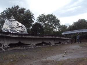 Masjid di Desa Cangduri Kecamatan Ketol Aceh Tengah yang rubuh akibat gempa