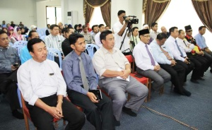 Kalangan pegawai dan kakitangan Jabatan Bandaran Kuala Belait dan Seria yang menghadiri Majlis Ceramah