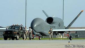 Pesawat intai jenis Global Hawk seperti inilah yang akan ditempatkan di Pulau Cocos, Australia.