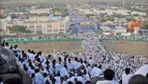 Umat Muslim di dunia berbondong-bondong menuju Jabal Rahmah di Padang Arafah