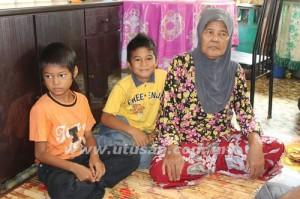 CHE Su Ali bersama Muhammad Shahrul Nizam dan Muhammad Shahrin