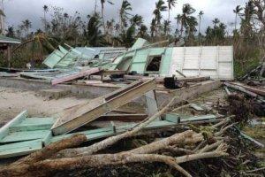 Runtuhan akibat Cyclone Evan di Samoa. (Credit: ABC)