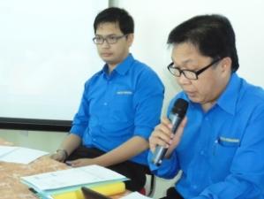 PEMANGKU Pengarah Perikanan, Awang Haji Abdul Halidi bin Mohd. Salleh menyampaikan kata alu-aluan