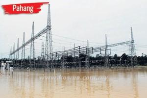 BEKALAN elektrik dan pencawang Tenaga Nasional Berhad Kuantan Utara di Kuantan dihentikan