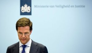 "Prime Minister Mark Rutte of the Netherlands. ""We have no exact information on what caused the disaster,"" he said. Credit Bart Maat/European Pressphoto Agency"