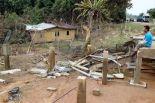 Pemilik rumah, Nasrul Hasnizan Che Razali termenung melihat rumahnya yang hanyut dan hanya tinggal tapak asal selepas rumahnya hanyut dibawa arus deras air banjir di Kampung Chabang Teming, Kuala Krai.